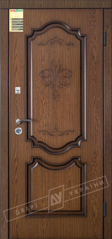 """Двері вхідні внутрішні """"Сіті 1/1"""" 2050*860мм, модель """"Престиж"""" дуб темний рустікаль 0501-21, праві."""