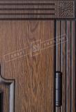 Двери входные серии БС / Комплектация №1 [RICCARDI] / ПРЕСТИЖ / Дуб темный рустикаль ОАК 0501-21 + ПАТИНА