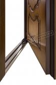 """Двері вхідні внутрішні""""Білоруський стандарт 2/1"""" 2040*880мм,модель Престиж-04 НДП,праві"""