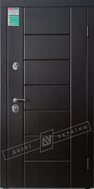 """Двері вхідні внутрішні""""Білоруський стандарт 2/1""""2040*880мм,""""Ніка М"""" венге южне МВР1998-10,праві"""