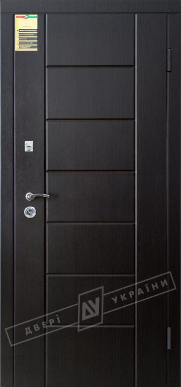 """Двері вхідні внутрішні """"Сіті 1/1"""" 2050*860мм, модель """"Ніка М"""" венге южне МВР1998-10, праві."""