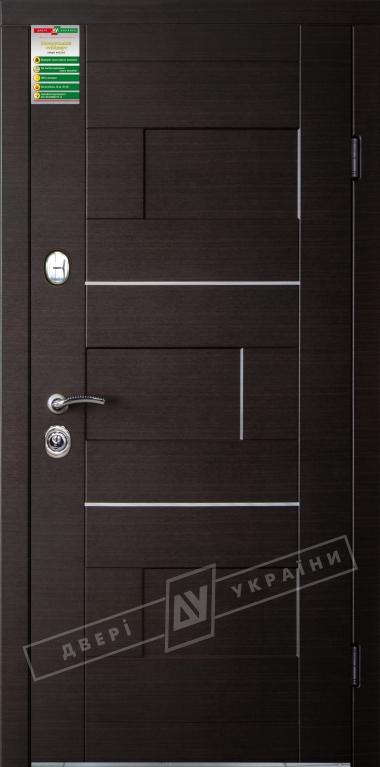 """Двери входные серии """"БС 2"""" / Комплектация №2 [KALE] / Модель: КУБ / Венге тёмный горизонт"""