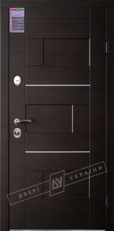 Двери входные серии ИНТЕР / Комплектация №1 [KALE] / КУБ / Венге горизонт тёмное HORI-DARK