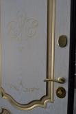 """Двері вхідні вн""""Білор.ст1/2""""2040*980""""Мілена""""дуб т.руст0501-21+П/""""Престиж""""ясень голд0023-20+П,права."""