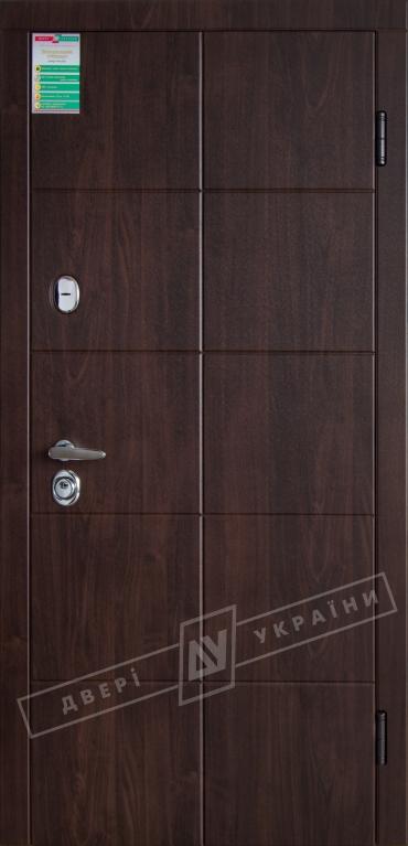 Двері вхідні зовнішніБілоруський стандарт 22 2040*880мм,Кейсгоріх темний DE-98037-10, праві