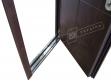 """Двері вхідні зовнішні""""Білоруський стандарт 2/2"""" 2040*880мм,""""Кейс""""горіх темний DE-98037-10, праві"""