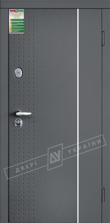 """Двері вхідні внутрішні""""БС 2/1""""2040*880мм,""""Леон 1"""" графіт 001 Арт..,праві"""