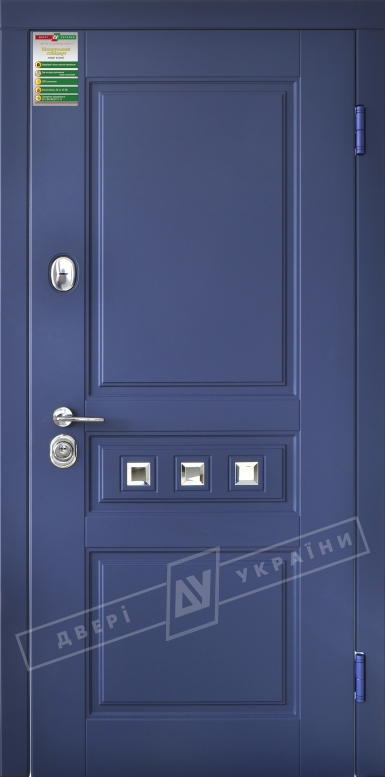 Двери входные серии БС / Комплектация №1 [RICCARDI] / ПРОВАНС 3 Кристал / Сапфир восточный софттач DHRB 3248UD B10-0,35