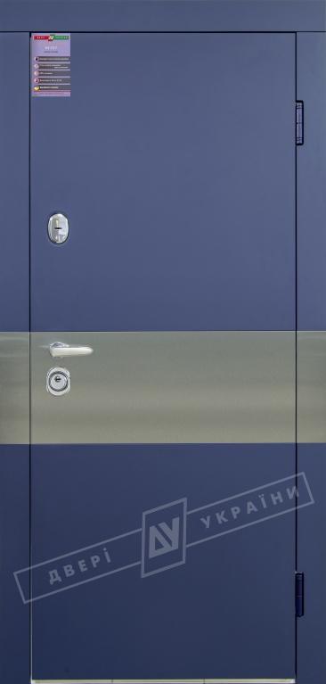 """Двері вх.вн""""ІНТЕР 5/1""""2040*880мм, """"ArtSteel""""сапфір схід.HRB 3248./білий супермат02Терм,праві"""