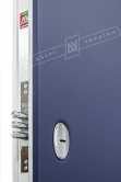 Двери входные серии ИНТЕР / Комплектация №1 [KALE] / ART STEEL 1 / Сапфир восточный софттач DHRB 3248UD B10-0,35