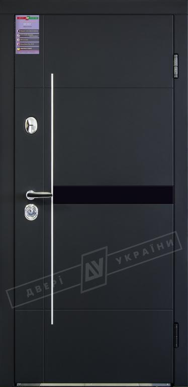 Двери входные серии ИНТЕР / Комплектация №1 [KALE] / ЭЛИС / Чёрный софттач RB5013UD-B10-0,35