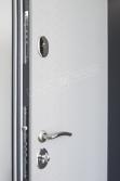 """Двери входные серии """"ИНТЕР"""" модель Леон 2 Кале антрацит светло-серый"""