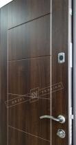 Двери входные САЛЮТ 2 металл / МДФ НИКА С каштан