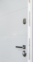 """Двери входные серии """"ИНТЕР"""" модель Стелла Графит 001 / Турин белый супермат """"Кале"""""""