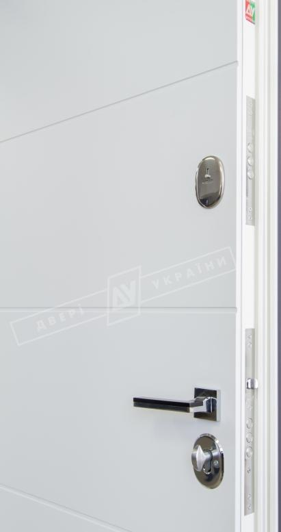 """Двери входные серии """"ИНТЕР"""" модель Стелла антрацит / Турин белый супермат """"Кале"""""""