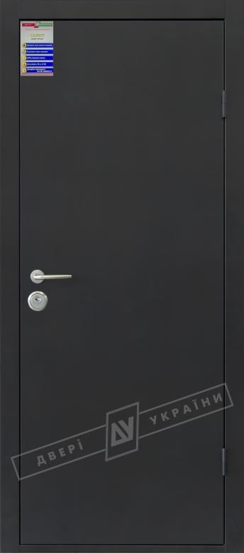 Двери входные САЛЮТ 2 металл / металл тёмно-серый металлик