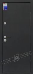 Двери входные САЛЮТ 2 металл / МДФ тёмно-серый металлик Флеш антрацит