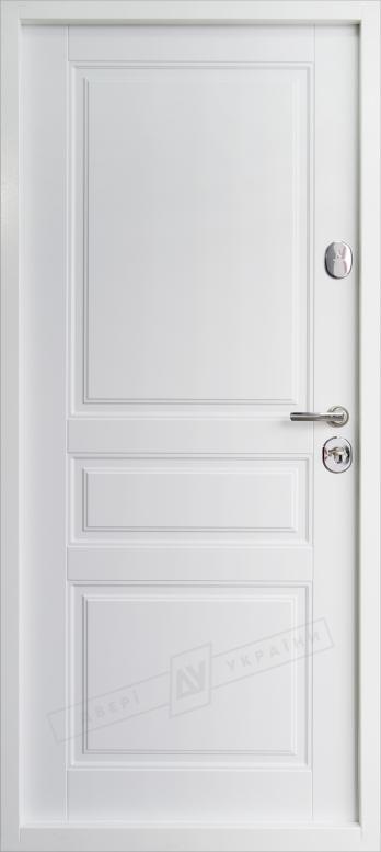 Двери входные серии ИНТЕР / Комплектация №1 [KALE] / ПРОВАНС 3 Кристал / Сапфир восточный софттач DHRB 3248UD B10-0,35 / Белый супермат WHITE_02