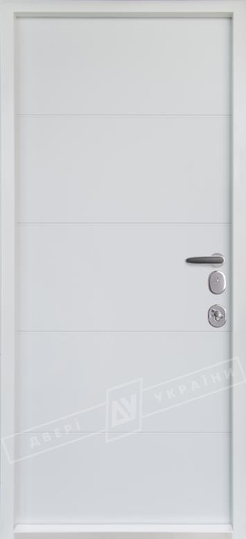 """Двери входные серии """"БС 3"""" модель ТУРИН / Комплектация №4 MOTTURA / Элегантный серый софттач HRB 9377UD B10-0,35 / Белый супермат WHITE_02"""
