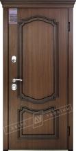 Двери входные серии ИНТЕР / Комплектация №1 [KALE] / МИЛЕНА / Орех гварнери + ПАТИНА