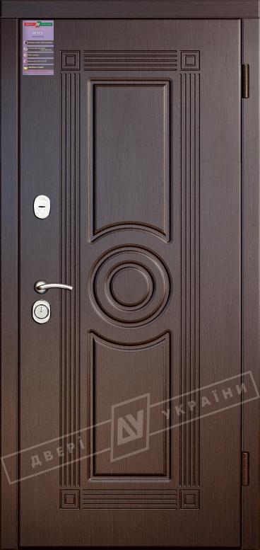 Двери входные серии ИНТЕР / Комплектация №1 [KALE] / ПАРИС / Венге южное МВР 1998-10