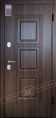 Двери входные серии ИНТЕР / Комплектация №1 [KALE] / ТРОЯ / Тёмный орех МВР 68Т