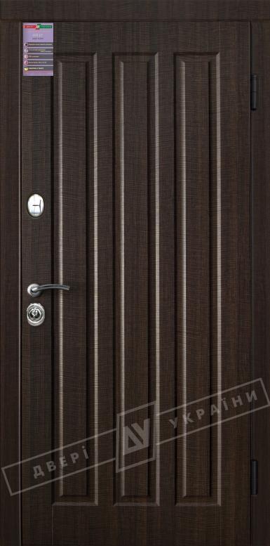 Двери входные серии ИНТЕР / Комплектация №1 [KALE] / ТРОЯНА / Венге тёмный распил