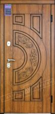 Двери входные серии ИНТЕР / Комплектация №1 [KALE] / ЗЛАТА / Золотой дуб (дверная) DE-921-55-14 + ПАТИНА