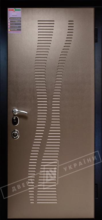 Двери входные серии ИНТЕР / Комплектация №3 [MOTTURA] / МИРАЖ / Бронза