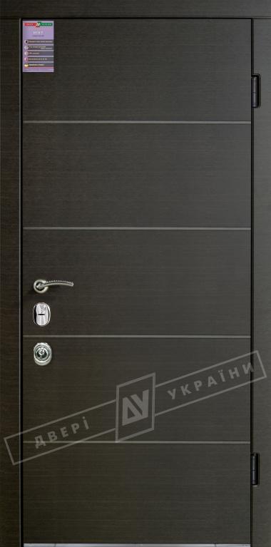 Двери входные серии ИНТЕР / Комплектация №3 [MOTTURA] / ТУРИН / Венге горизонт тёмное HORI-DARK