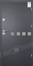"""Двери входные уличные серии """"GRAND HOUSE 56 mm"""" / Модель №10 / цвет: Графит металлик муар"""