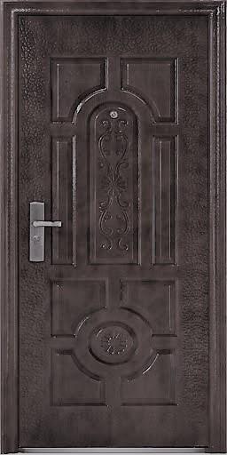 """Двери входные ТМ """"Двери Оптом"""" / ЭКОНОМ 50 мм / [ TP-C 17 ] / МОЛОТКОВОЕ ПОКРЫТИЕ / для НАРУЖНОГО ПРИМЕНЕНИЯ / 2050*860 мм / утеплённые СОТАМИ"""