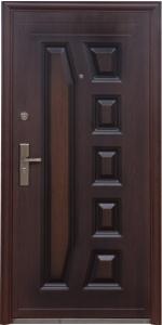 """Двери входные ТМ """"Двери Оптом"""" / [ TP-C 28 ] / ЛАК ПОКРЫТИЕ / для НАРУЖНОГО ПРИМЕНЕНИЯ / 2050*860 мм / утеплённые СОТАМИ из гофрокартона"""