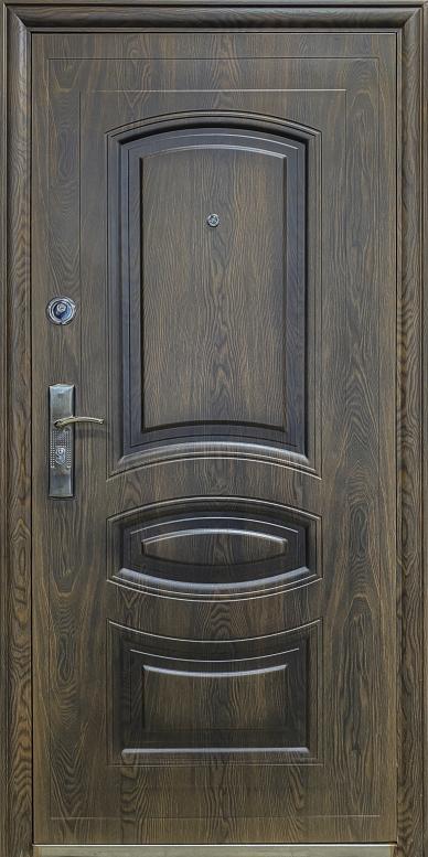 """Двери входные ТМ """"Двери Оптом"""" / [ TP-C 31 ] / ЛАК ТЕФЛОН ПОКРЫТИЕ / для НАРУЖНОГО ПРИМЕНЕНИЯ / 2050*960 мм / утеплённые СОТАМИ + МИНЕРАЛЬНОЙ ВАТОЙ по периметру"""