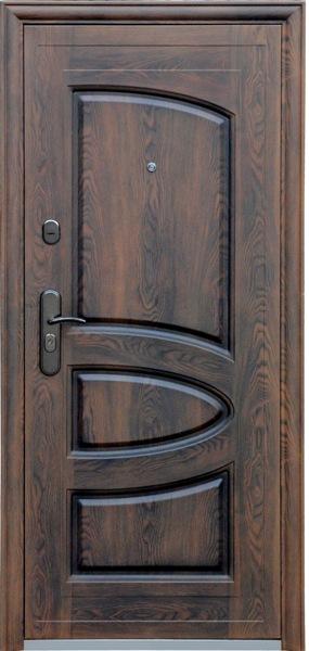 """Двери входные ТМ """"Двери Оптом"""" / [ TP-C 127 + ] / ЛАК ТЕФЛОН ПОКРЫТИЕ / для НАРУЖНОГО ПРИМЕНЕНИЯ / 2050*860 мм / утеплённые МИНЕРАЛЬНОЙ ВАТОЙ"""