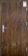 """Двери входные уличные серии """"GRAND HOUSE 73 mm"""" / модель ФЛЕШ / цвет: Тёмный орех / Защитная ручка на планке"""