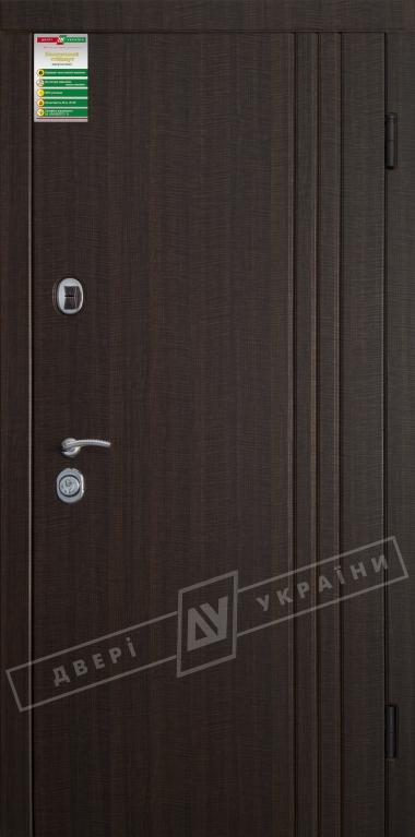 """Двері вхідні внутрішні""""Білоруський стандарт 2/1"""" 2040*880мм,модель Флеш-03 Н,праві"""