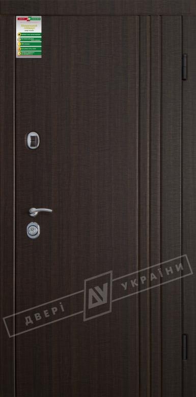 Двери входные серии БС / Комплектация №1 [RICCARDI] / ФЛЕШ 3 / Венге тёмный распил
