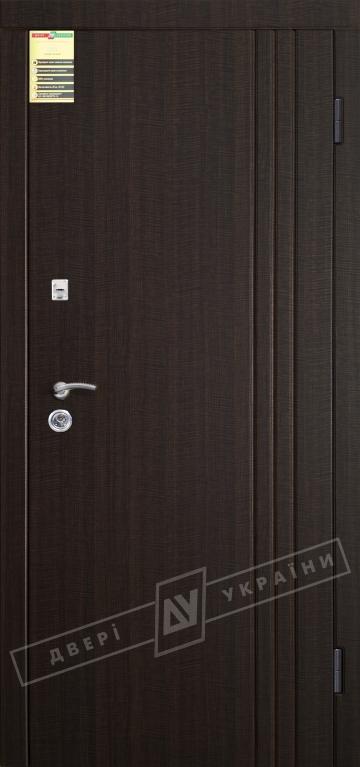 """Двері вхідні внутрішні """"Сіті 1/1"""" 2050*860мм, модель """"Флеш 3"""" венге темний розпил 2415Р, праві."""
