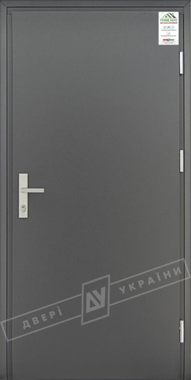 """Двери входные уличные серии """"GRAND HOUSE 73 mm"""" / Модель """"ФЛЕШ"""" / цвет: Графит металлик / Защитная ручка на планке"""