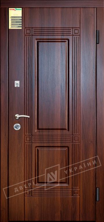 """Двері вхідні внутрішні """"Сіті 1/1"""" 2050*860мм, модель """"Гектор"""" горіх темний 68Т, праві."""