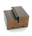 """Двери входные уличные серии """"GRAND HOUSE 73 mm"""" / Модель №5 / цвет: Тёмный орех / Защитная ручка на планке"""