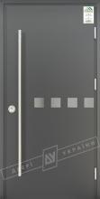 """Двери входные уличные серии """"GRAND HOUSE 73 mm"""" / Модель №10 / цвет: Графит металлик / Ручка-скоба [2 стороны]"""
