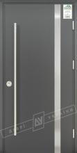 """Двери входные уличные серии """"GRAND HOUSE 73 mm"""" / Модель №7 / цвет: Графит металлик / Ручка-скоба [2 стороны]"""