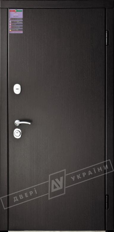 Двери входные серии ИНТЕР / Комплектация №1 [KALE] / ФЛЕШ / Венге южное МВР 1998-10
