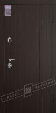 Двери входные серии ИНТЕР / Комплектация №1 [KALE] / ФЛЕШ 3 / Венге тёмный распил