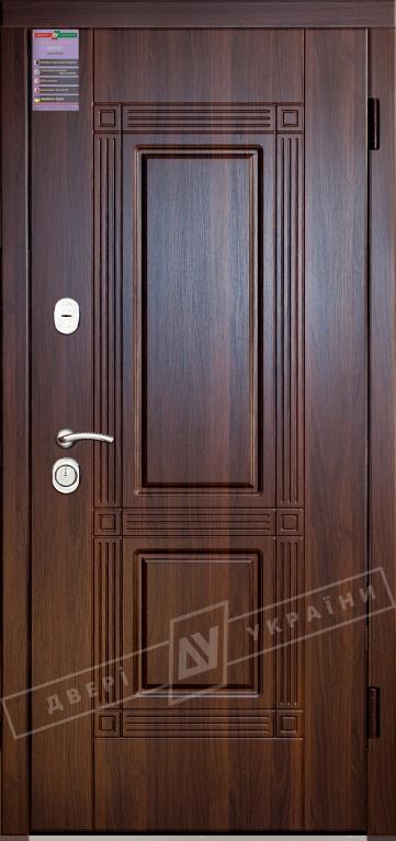Двери входные серии ИНТЕР / Комплектация №1 [KALE] / ГЕКТОР / Тёмный орех МВР 68Т