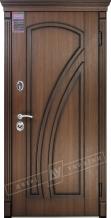 Двери входные серии ИНТЕР / Комплектация №1 [KALE] / КЛИО / Орех гварнери + ПАТИНА