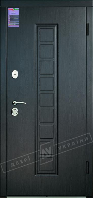 Двери входные серии ИНТЕР / Комплектация №1 [KALE] / ЛАУРА / Венге южное МВР 1998-10