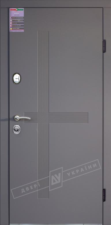 Двери входные серии ИНТЕР / Комплектация №1 [KALE] / ЛЕКС / Элегантный серый софттач HRB 9377UD B10-0,35